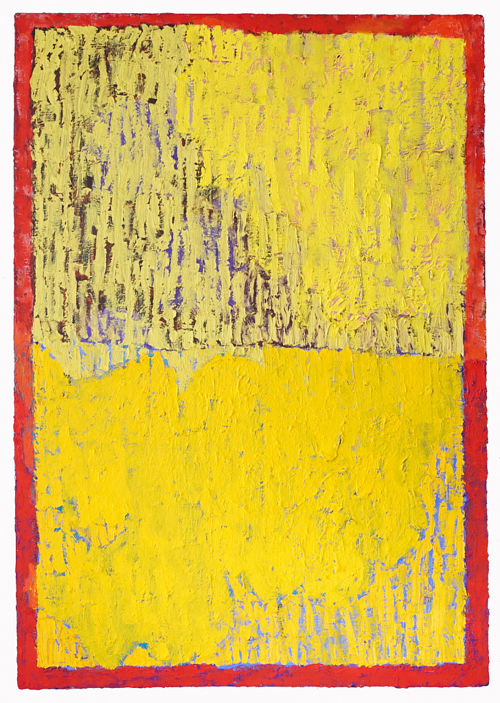 Yellow with Orange Border