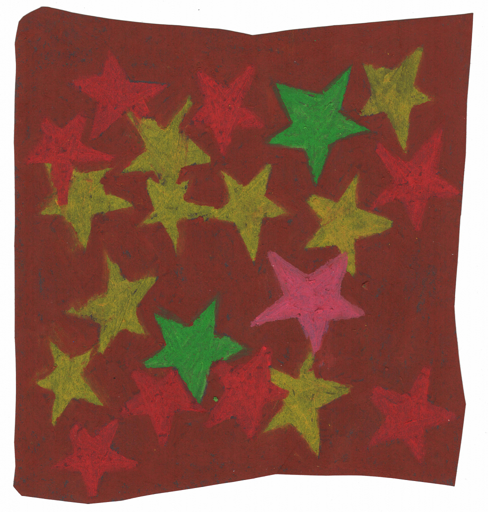 Stars (Green, Yellow, Pink and Red)