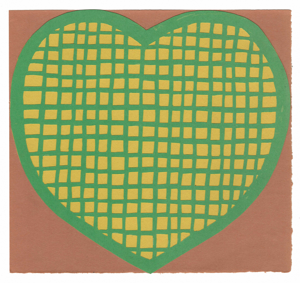 Green and Yellow Heart