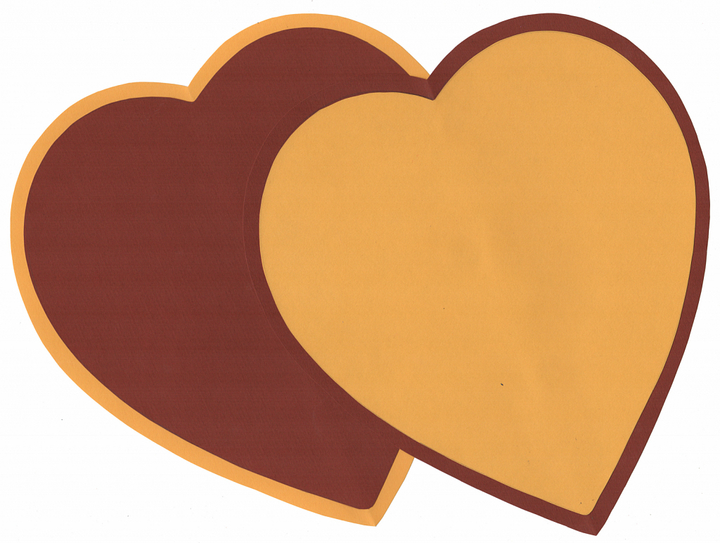 Brown and Yellow Hearts